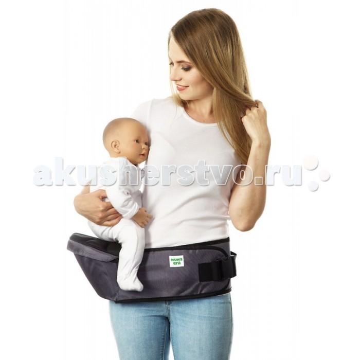 Рюкзак-кенгуру Mums Era ХипситХипситХипсит Mums Era — это современная, легкая, мобильная и удобная детская переноска. Она предназначена для ношения детей от 6-8 месяцев до 3 лет. Хипсит может выдержать большую нагрузку, но оптимальнее всего его использовать до веса ребенка 15-18 кг.  Что удобно делать, используя хипсит Mums Era? ездить с малышом в путешествия — аэропорт, вокзал, гостиница — не надо волноваться, что малыш потеряется в незнакомом месте или будет напуган, ведь на хипсите он совсем рядом с мамой необходимость передвигаться с ребенком на руках, имея возможность одновременно делать что-то еще (например, делать уборку или другие мелкие дела по хозяйству) период, когда ребенок учится ходить (сделав несколько шагов — просится на ручки, потом обратно на землю, и так до бесконечности — с хипситом этот процесс становится более удобным)  Чем хипсит лучше других переносок? Это самая компактная и простая переноска среди существующих сегодня на планете Земля. В нем нет ничего лишнего - никаких бесконечных застежек, ремешков, колец или длинных полотнищ (которые иногда заочно пугают начинающих слингомам при мысли о слинге-шарфе) Это самый быстрый вид переноски. Надеть хипсит можно за 5-10 секунд! Пара движений руками - по сложности примерно таких же, как при надевании ремня - и переноска уже у вас на талии и готова к использованию! Хипсит с удовольствием будут носить папы, которые иногда могут с предубеждением относиться к слингам  Главная задача хипсита - равномерно перенести вес ребенка с маминой спины на мамины бедра. Это становится возможным благодаря специальной анатомичной конструкции пояса изделия (пояс удобно облегает талию) и сиденья (оно имеет правильную форму и удобно ложится на бедро, нигде ничего не пережимая и не создавая неудобств)  для переноски детей от 6 месяцев до 2-3 лет спасение для спины родителя  размер регулируется от 44 до 52 надежная фурнитура состав: 100% полиэстер<br>