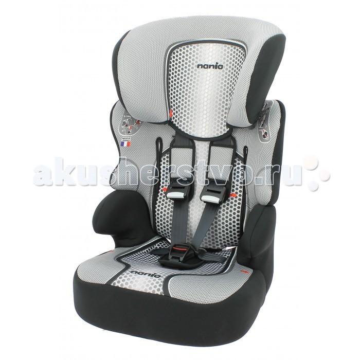 Автокресло Nania Beline SPBeline SPАвтокресло Nania Beline SP относится к группе 1/2/3, от 8 месяцев до 12 лет (9 - 36 кг). Соответствует стандартам ECE R44/04. Автокресло Beline SP охватывает все возрастные группы в возрасте от примерно 8 месяцев до 12 лет (когда ребенка в автомобиле уже можно перевозить без специального удерживающего устройства) благодаря регулируемой по высоте спинке. Когда ребенок подрастет, спинку автокресла можно отстегнуть и использовать только бустер.  Широкие мягкие подголовник, спинка и подлокотники обеспечат дополнительный комфорт и безопасность маленького пассажира даже в случае бокового столкновения. Высоту подголовника можно регулировать по высоте, кресло растет вместе с Вашим ребенком. Все тканевые части легко снимаются и стираются.  Особенности: внешние размеры (Д х Ш х В): 47 x 44 x 68-79 см размеры сиденья (Д х Ш): 34 x 27 см ткань: 100% полиэстер. установка на заднем сиденье лицом по ходу движения способ крепления в автомобиле штатным ремнем транспортного средства подголовник имеет 6 положений высоты<br>