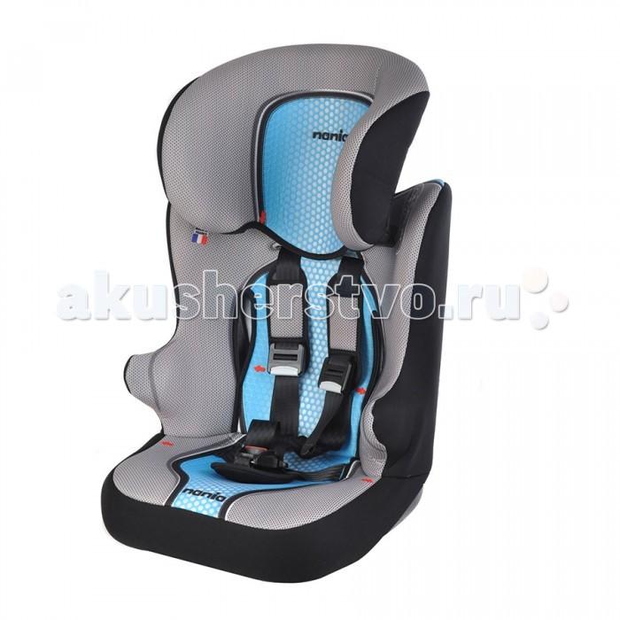 Автокресло Nania Racer SPRacer SPАвтокресло Nania Racer SP предназначено для детей весом от 9 до 36кг (приблизительно от года до 12 лет).  Особенности:  Данное автокресло соответствует Европейскому Стандарту ЕСЕ R44/03, для групп 1/2/3, 9-36 кг.  Регулируемый подголовник.  Если ребенок весит от 9 до 18 кг, нужно использовать фиксирующий зажим ремня безопасности, который прикреплен шнурком к спинке автокресла.  Кресло оснащено улучшенной боковой защитой (Side Protection).  Кресло литое: спинка и сиденье цельное, в бустер не превращается.  Рекомендации по обслуживанию:  Допускается стирка покрытия автокресла при температуре 30 C&#186;   Ремни безопасности и пластиковые части можно чистить мягким моющим средством и теплой водой.<br>