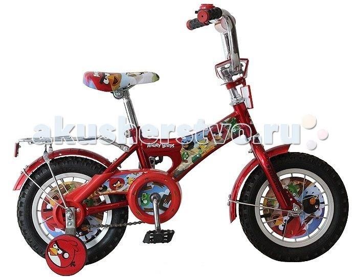 Велосипед двухколесный Navigator Angry Birds 12Angry Birds 12Велосипед Navigator Angry Birds - это хорошо собранный и надёжный велосипед для ребёнка.   Особенности: Тип: детский Материал рамы: сталь Амортизация: отсутствует Конструкция вилки: жесткая Конструкция рулевой колонки: неинтегрированная, резьбовая Диаметр колес: 12 дюймов Материал обода: алюминиевый сплав Двойной обод: нет Материал бортировочного шнура: металл Возможность крепления боковых колес: есть Боковые колеса в комплекте: есть Тип переднего тормоза: отсутствует Тип заднего тормоза: ножной Уровень заднего тормоза: начальный Количество скоростей: 1 Уровень каретки: начальный Конструкция каретки: неинтегрированная Тип посадочной части вала каретки: квадрат Количество звезд в кассете: 1 Количество звезд системы: 1 Конструкция педалей: платформы Конструкция руля: изогнутый Настройка положения руля: регулируемый подъем Комплектация: багажник, крылья Материал рамки седла: сталь Комфорт: защита цепи<br>