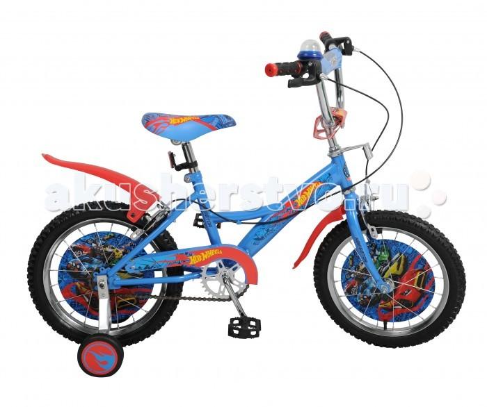 Велосипед двухколесный Navigator Hot Wheels 16 KiteHot Wheels 16 KiteВелосипед двухколесный Navigator Hot Wheels 16 Kite сможет стать первым транспортным средством ребенка и порадует его своим оригинальным дизайном. Конструкция данного транспортного средства изготовлена из металла, что гарантирует надежность и долговечность эксплуатации.  Велосипед обладает отличными техническими характеристиками и стильным внешним видом, который непременно привлечет внимание окружающих. Изделие снабжено страховочными колесами, благодаря которым дети смогут более уверенно научиться ездить и держать равновесие.   Особенности: широкие страховочные колёса односоставной шатун вставки в колесах пластиковые крылья звонок-пищалка мягкая накладка на руле передний и задний ручной тормоз.<br>