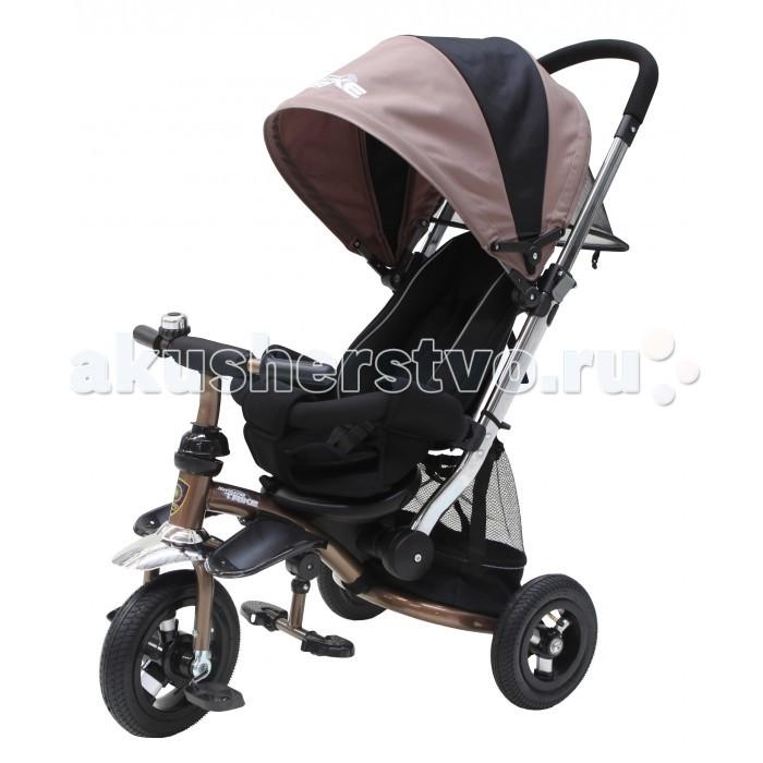 Велосипед трехколесный Navigator Lexus Т57583/Т57662Lexus Т57583/Т57662Велосипед трехколесный Navigator Lexus предназначен для того, чтобы ребенок увидел мир с другого ракурса и постепенно переходил с коляски на собственный транспорт. Популярная модель детского трехколесного велосипеда с ярким дизайном. Велосипед снабжен ручкой управления для родителей.  Особенности: Диаметр переднего/заднего колеса: 10/8 Широкие надувные колеса с пластиковыми дисками  Сиденье с регулируемой спинкой Конструкция руля прямой Безопасность и комфорт Ручка для родителей  Управление рулем прикосновением Подставки для ног  Переднее крыло  Страховочный разъемный обод  Колясочный козырек от дождя Тканевая вставка на сиденье  Ремни безопасности  Задняя корзина (фиксированная) Клаксон  Вес: 11 кг<br>