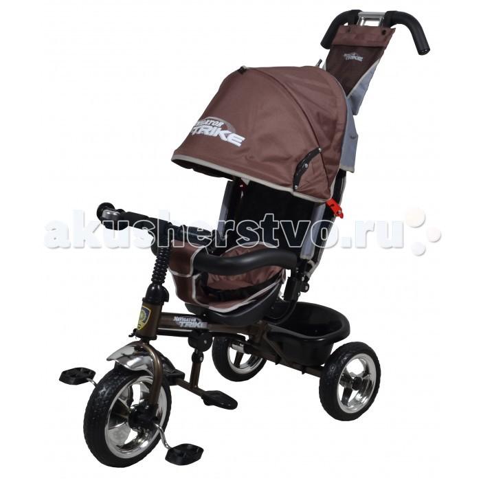 Велосипед трехколесный Navigator Lexus Т576Lexus Т576Велосипед трехколесный Navigator Lexus предназначен для того, чтобы ребенок увидел мир с другого ракурса и постепенно переходил с коляски на собственный транспорт. Популярная модель детского трехколесного велосипеда с ярким дизайном. Велосипед снабжен ручкой управления для родителей.  Особенности: Диаметр переднего/заднего колеса: 10/8 Широкие колеса с пластиковыми дисками  Сиденье с регулируемой спинкой Мягкий вкладыш на сидении и ремни безопасности Конструкция руля прямой Тяга Безопасность и комфорт Ручка для родителей  Управление рулем Подставки для ног  Переднее крыло  Страховочный обод  Козырек от дождя Тканевая вставка на сиденье  Рюкзак на ручке  Задняя корзина (фиксированная) Клаксон  Вес: 8 кг<br>