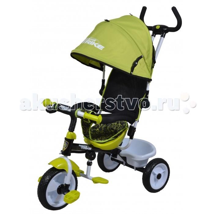 Велосипед трехколесный Navigator Lexus Т58447/Т58446Lexus Т58447/Т58446Велосипед трехколесный Navigator Lexus предназначен для того, чтобы ребенок увидел мир с другого ракурса и постепенно переходил с коляски на собственный транспорт. Популярная модель детского трехколесного велосипеда с ярким дизайном. Велосипед снабжен ручкой управления для родителей.  Особенности: Диаметр переднего/заднего колеса: 10/8 Широкие пластиковые колеса с пластиковыми дисками  Сиденье с нерегулируемой спинкой  Конструкция руля прямой Тяга Безопасность и комфорт Ручка для родителей  Управление рулем Подставки для ног  Переднее крыло  Страховочный разъемный обод  Колясочный козырек от дождя Тканевая вставка на сиденье  Задняя корзина (фиксированная) Клаксон  Вес: 7.2 кг<br>