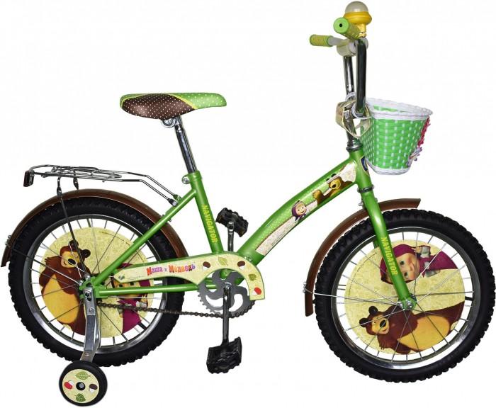 Велосипед двухколесный Navigator Маша и Медведь 18 KiteМаша и Медведь 18 KiteВелосипед двухколесный Navigator Маша и Медведь 18 Kite сможет стать первым транспортным средством ребенка и порадует его своим оригинальным дизайном. Конструкция данного транспортного средства изготовлена из металла, что гарантирует надежность и долговечность эксплуатации.  Велосипед обладает отличными техническими характеристиками и стильным внешним видом, который непременно привлечет внимание окружающих. Изделие снабжено страховочными колесами, благодаря которым дети смогут более уверенно научиться ездить и держать равновесие.   Особенности: однокомпонентный кареточный узел камеры из натуральной резины стальные обода покрышки 18 х 2,125 задний ножной тормоз вставки в колесах передняя пластиковая корзина страховочные колеса с декоративной вставкой звонок-пищалка возраст от 6 до 9 лет.<br>