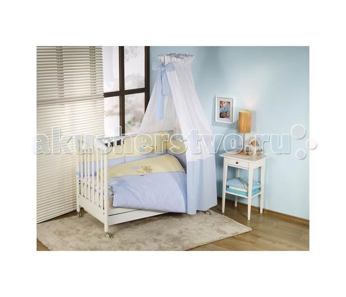 Комплект в кроватку Nino Los Amigos (6BB предметов)Los Amigos (6BB предметов)Детский комплект в кроватку Nino Los Amigos BB обеспечивает новорожденному спокойный сон, так необходимый для правильного развития. Особое внимание уделяется качеству и мягкости хлопчатобумажной ткани. Благодаря применению инновационной системы Easy Wash комплект характеризуется практичностью в использовании, простотой стирки и глаженья борта без риска испортить наполнитель. Использование метода Even Fill обеспечивает равномерное расположение наполнителя.  Материал: 100% хлопок, наполнение - полиэстер  Расцветки: бежевый, голубой В комплекте 6 предметов:  пододеяльник: 135 х 100 см  наволочка: 60 х 40 см  одеяло: 135 х 100 см  подушка: 60 х 40 см  борт: 360 см (на всю кроватку)  простынь на резинке<br>