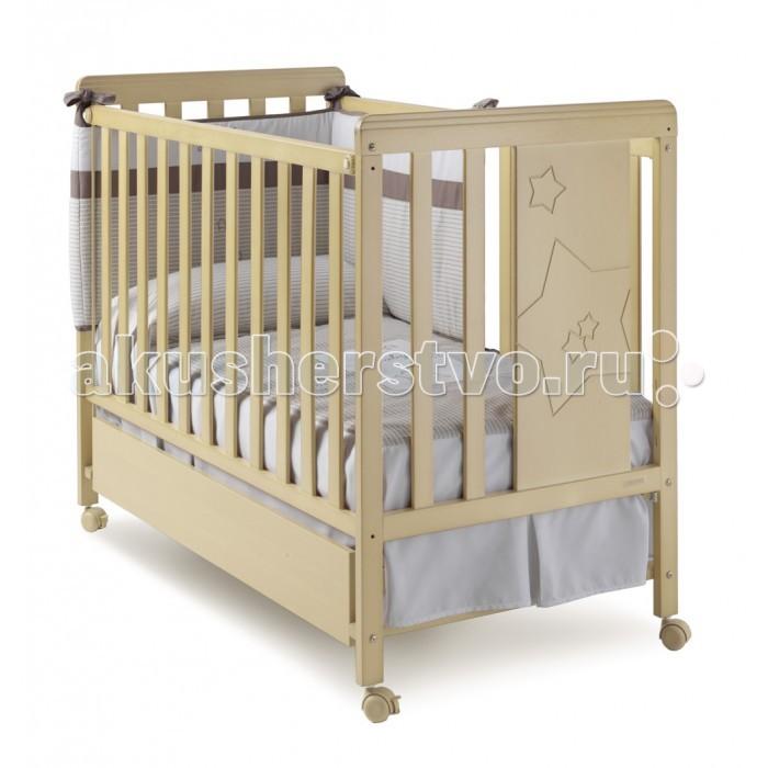 Детская кроватка Micuna Nova 120x60Nova 120x60Детская кроватка Micuna Nova 120x60 имеет открытый и уникальный дизайн. Благодаря оригинальности конструкции и высокому уровню удобства кроватки вашему ребёнку просто не захочется выбираться из нее.  Дно кроватки регулируется в 2-х положениях, а если убрать один из бортиков, то кроватка превратиться в удобный диван.   Для передвижения кроватки предусмотрены специальные колесики, которые имеют тормозную систему предназначенную для избежания случайного движения. Решётка обеспечена замками двойной безопасности для предотвращения случайного складывания.   Конструкция детской кроватки Micuna Nova 120x60 предусматривает скругленные углы, которые предотвратят непроизвольное травмирование малыша или родителей, а для изготовления самого изделия используются только натуральные нетоксичные материалы.   Особенности: колёсная база с тормозной системой; материал: бук; размеры спального места: 120х60.<br>