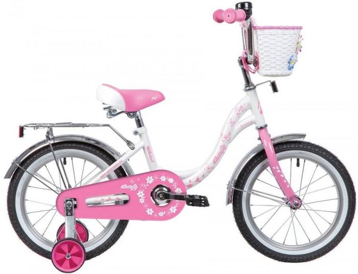 Велосипед двухколесный Novatrack Butterfly 14Butterfly 14Велосипед двухколесный Novatrack Butterfly 14 прекрасно подойдет для малыша, который любит активно проводить время. Крепкая стальная рама обеспечивает высокий уровень безопасности для ребенка. Для комфортных поездок по сложной трассе либо по пересеченной местности велосипед оборудован двумя дополнительными съемными колесами, благодаря которым маленький наездник будет чувствовать себя увереннее. Ножной тормоз позволит быстро затормозить в случае необходимости. А крылья в цвет велосипеда защитят ребенка от брызг во время езды.  Материал рамы: сталь Рост велосипедиста: 101-106 см Диаметр колес: 14 дюймов Корзина в комплекте Комплектация: звонок, защитная накладка на руле, крылья, зеркало заднего вида, багажник<br>