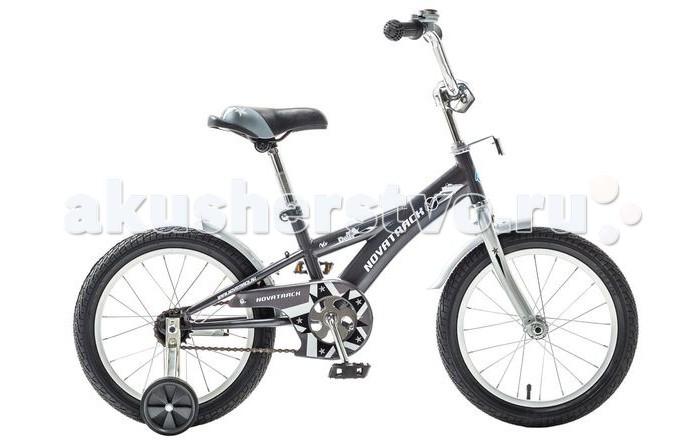 Велосипед двухколесный Novatrack Delfi 16Delfi 16Велосипед двухколесный Novatrack Delfi 16 - имеет привлекательный дизайн, надежную сборку и отличную управляемость. Низкая рама разработана так, что ребенку очень легко взбираться и слезать с велосипеда, да и спрыгивать, в случае непредвиденных обстоятельств во время катания. Велосипед подойдет и начинающим гонщикам, так как в комплекте есть страховочные колеса.   Особенности: прочная скошенная рама седло эргономичной формы с возможностью регулирования высоты классический руль с рукоятками из прорезиненного материала уровень руля регулируется крылья короткие, металлические цепь закрыта щитком в комплекте - страховочные колесики для начинающих велосипедистов Диаметр колес: 16<br>