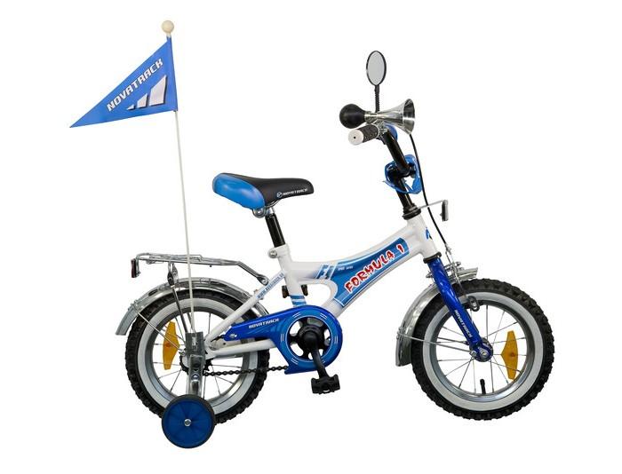 Велосипед двухколесный Novatrack Formula 12Formula 12Велосипед двухколесный Novatrack Formula 12 - отличный вариант для ребенка старше двух лет, чтобы начать осваивать этот вид транспорта с пользой для здоровья. Модель имеет стильный дизайн, безупречную сборку и отличную функциональность.   Особенности: стальная рама сиденье и руль регулируются по высоте хромированные крылья дополнительные аксессуары: хромированный багажник, зеркальце, яркий флажок, звонкий гудок два вида тормозов: ножной задний и ручной передний съемные дополнительные колеса Диаметр колес: 12<br>