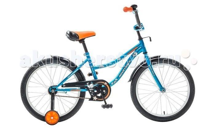Велосипед двухколесный Novatrack Neptun 20Neptun 20Велосипед двухколесный Novatrack Neptune 20 - стильный и надежный велосипед станет отличным подарком Вашему ребенку. Основные преимущества этой модели: максимальная безопасность,комфорт, привлекательный дизайн и универсальность. Велосипед подойдет и начинающим гонщикам, так как в комплекте есть страховочные колеса.   Особенности: регулируемые седло и руль прочная стальная рама алюминиевые обода защита цепи ножной тормоз 4 отражателя Диаметр колес: 20<br>