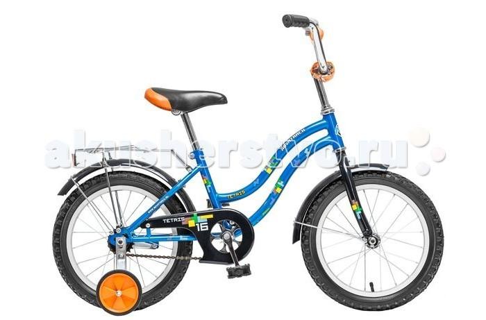 Велосипед двухколесный Novatrack Tetris 16Tetris 16Велосипед двухколесный Novatrack Tetris 16 - это надежный велосипед, на котором очень легко будет освоить азы катания на велосипеде. Отличается эргономичным дизайном, красивой расцветкой и наличием дополнительных аксессуаров в виде багажника и звонка.  Особенности: низкая изогнутая двойная рама руль и седло регулируются по высоте защиту от попадания нижнего края одежда в цепь обеспечивает металлический щиток задний ножной тормоз удлиненные металлические крылья, расположенные над обоими колесами страховочные колесики сзади седла расположен хромированный багажник с зажимом на колесах, руле и седле закреплены катафоты Диаметр колес: 16<br>