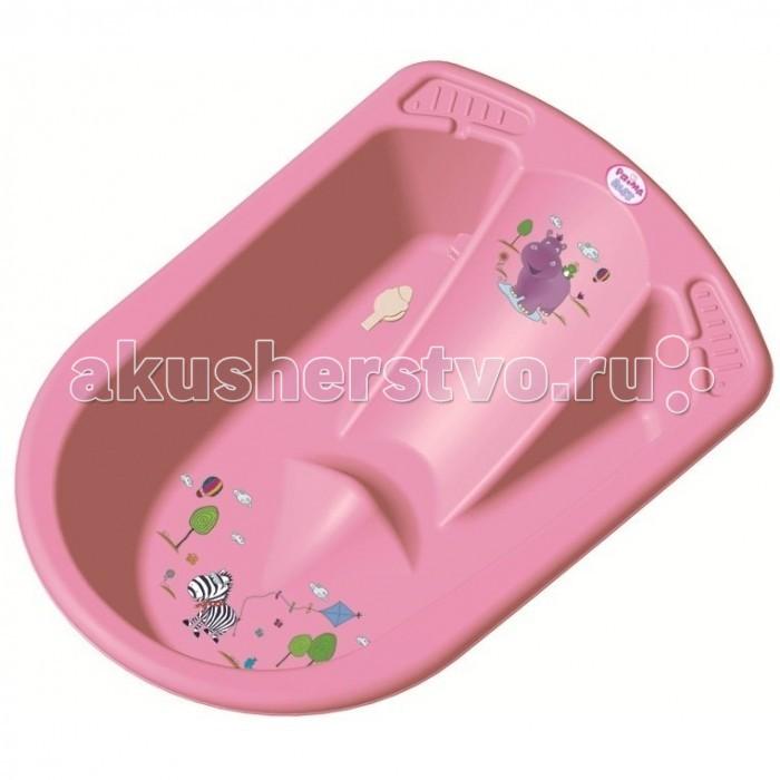 Детские ванночки OKT ванночка Бегемотик анатомическая  ванна okt hippo 1 м 8437 фиолетовый