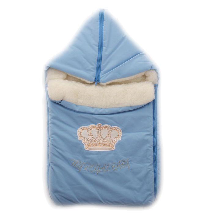 Зимний конверт Осьминожка КоронаКоронаКонверт зимний меховой для прогулки.   Конверт для деток на прогулку в зимний период. Имеет две боковые молнии для удобства расположения малыша.   Защитит вашего малыша в зимний период от холода.   Отличного подойдет для Вашего малыша как для использования в коляске, так и в дальнейшем.  Состав: Верх: фитсистем (40% х/б, 45% п/э, 15% нейлон), подклад: мех на трикотажной основе (70% шерсть, 30% п/э), наполнитель: холкон (100% п/э)  Уход: ручная стирка 30 градусов.<br>