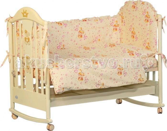 Комплекты в кроватку Папитто 7011 (6 предметов) комплекты в кроватку папитто плюшевый мишка 6 предметов