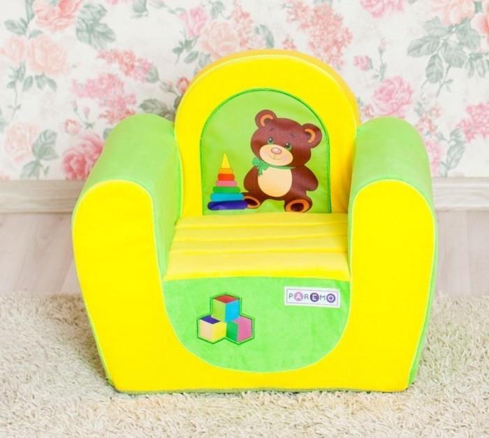 Paremo Детское кресло МедвежонокДетское кресло МедвежонокParemo Детское кресло Медвежонок обязательно понравится ребенку, и прекрасно дополнит любой детский интерьер. Кресло бескаркасное, мягкое и эргономичное, что делает его максимально удобным для малыша.   Особенности: Создано для мальчиков и девочек в возрасте 1-4 лет Кресло имеет бескаркасную и абсолютно безопасную для малыша конструкцию Сидение мягкое и эргономичное, принимает нужную форму под весом ребенка Размеры креслица: 54 х 45 х 38 см. Вес: 3 кг Высота от пола до сидения: 18 см Размеры сидения: 28 х 26 см<br>
