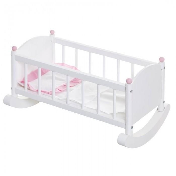 Кроватка для куклы Paremo ЛюлькаЛюлькаКроватка для куклы Paremo Люлька - это качественная и прочная игрушка, предназначенная для больших кукол до 49 см. Люлька выполнена из массива дерева, абсолютно безопасна и экологична.   В комплекте: кровать для куклы матрас подушка<br>