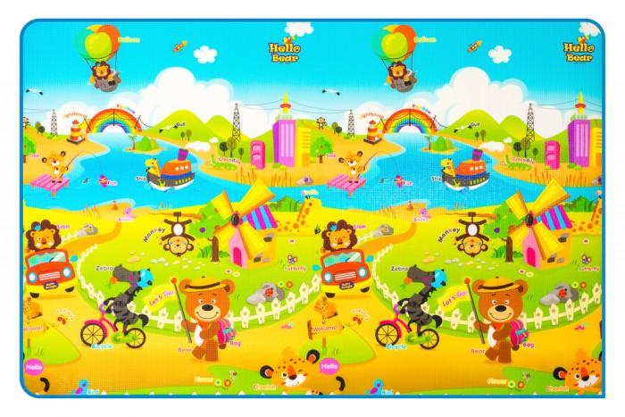 Игровой коврик Parklon Двухсторонний Мишка на каникулах/Дороги Prime Living