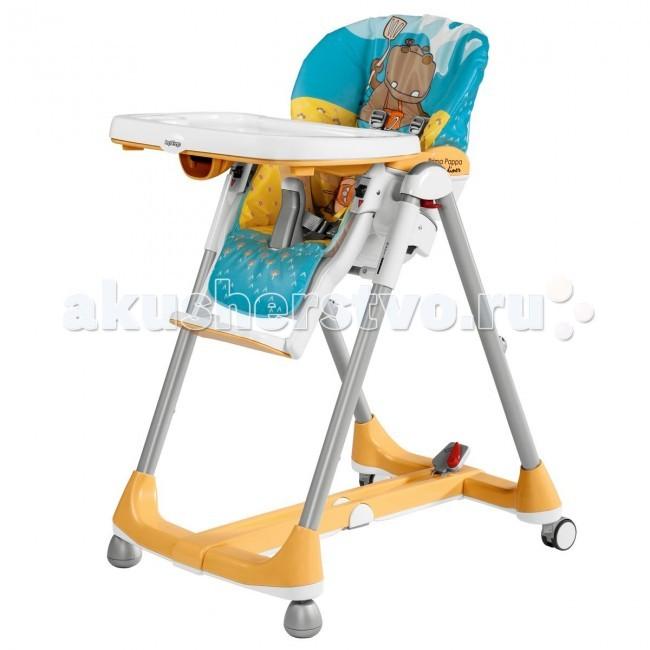 Стульчик для кормления Peg-perego Prima Pappa DinerPrima Pappa DinerСтульчик для кормления Peg-perego Prima Pappa Diner Складной стул для кормления ребенка, нaчинaя c 5-6 месяцев (когда малыш уже может самостоятельно сидеть) до 3-х лет.Легко перемещается по квартире с помощью колес, которые можно зафиксировать при необходимости.  Особенности Prima Pappa Diner:  сидениерегулируется в 7 положениях по высоте  регулируемый отдых угол наклона спинки, фиксируется в 4-х положениях (для еды, игр и отдыха  столик (52 x 28 см) регулируется в двух положениях и снимается в случае обеда малыша за обычным столом  кресло с двойным подносом для легкого перехода от еды к игре  пяти-точечные ремни безопасности и анатомическая вставка для разделения ног удерживают ребенка в надежном и безопасном положении  сидение моющееся (клеенка), корпус пластмассовый  компактно складывается  подножка не регулируется  Высота сиденья – 50 см, глубина сиденья – 21 см, подножка – 18 см  Ширина сиденья в плечах – 22 см  Ширина сиденья под попой – 27 см  Размеры (ШхГхВ): 58 х 77 х 103,5 см Размеры в сложенном виде: 58 х 28,5 х 103,5 cм Вес: 10,3 кг<br>