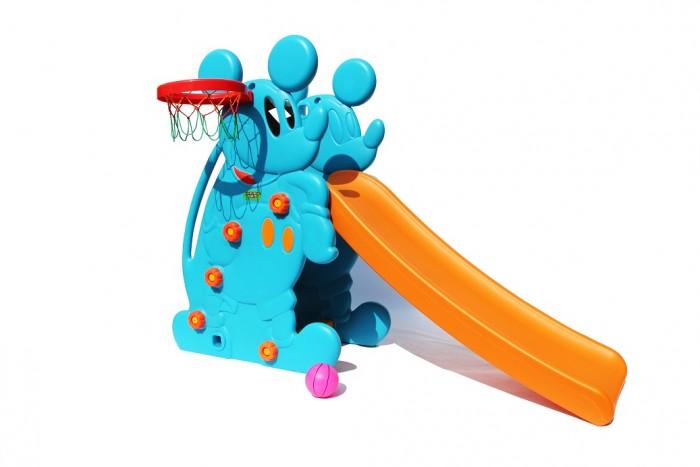 Горка Perfetto Sport Мышка PS-027Мышка PS-027Детская горка прямая Мышка PS-027 устойчива и удобна. Благодаря качественному материалу и небольшим размерам она может использоваться как в помещении, так и на улице.  Детишки просто обожают горки! А горка с ровной поверхностью вызовет восторг у малышей и станет любимым местом для игры на свежем воздухе. Более того, горка идет с баскетбольной корзиной.  Горка имеет удобную для малышей лесенку, состоящую из четырех ступеней. Длина поверхности скольжения - 135 см, высота ската - 73 см. Боковые стороны горки оформлены в виде милого мышонка.  Горка изготовлена из прочного экологически чистого пластика, безопасного для людей, конструкция прочная и надежная, прослужит долгие годы.  Комплектация: пластиковая горка, лесенка, кольцо баскетбольное, мячик  Допустимая нагрузка 70 кг.<br>