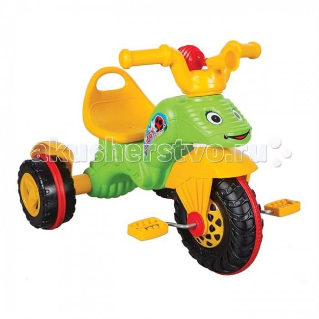 Велосипед трехколесный Pilsan BuggyBuggyВелосипед трехколесный Pilsan Buggy - приведет в восторг Вашего ребенка. Модель выполнена в форме веселого дракончика, благодаря чему кататься малышу будет весело и интересно. Также малыш обязательно обрадуется простому, но громкому гудку, благодаря которому он сможет приветствовать друзей на улице и изображать драконий рев.   Представляет собой трехколесный велосипед с педалями на переднем колесе. Глубокое сиденье и спинка создают необходимый уровень комфорта и безопасности. Также велосипед оснащен корзиной за сиденьем и клаксоном.   Размеры: (шхдхв) 48х70х50 см.  Среди огромного количества детских игрушек выгодно отличается продукция турецкой компании Pilsan, которая является лидером в производстве крупногабаритных игрушек для детей разных возрастов. Продукцию компании Pilsan характеризует высокое качество, недаром лозунг компании звучит как «Quality in Toys» - «Качество в игрушках». Продуманный дизайн, тестирование, обеспечение контроля на всех стадиях производства подтверждает слоган компании. Все игрушки, производимые компанией Pilsan, отличаются высоким качеством, безопасны, не содержат вредных материалов и красителей, для производства используется экологически чистый пластик.<br>