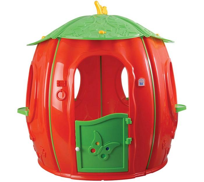 Pilsan Игровой домик ФруктовыйИгровой домик ФруктовыйОчень удобный, яркий и красочный, просторный разборный домик турецкого производителя высококачественных детских игрушек компании Pilsan, весьма интересно стилизованный под фрукт.  Домик оснащен окнами и открывающейся входной дверью.  Малыши очень любят в нем играть с друзьями в дочки-матери. Они заносят туда куклы и другие игрушки, устраивают чаепитие.  Этот домик изготовлен из очень прочного пластика, весьма устойчив к перепаду температур и солнечным лучам.  Его достаточно легко мыть.  Эта игрушка рассчитана на детей дошкольного возраста от 2 лет.  Габариты: длина – 141 см, ширина – 141 см, высота – 126 см.<br>