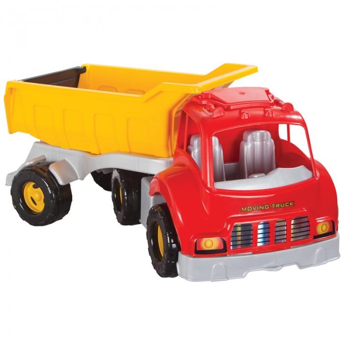 Pilsan Грузовик Moving TruckГрузовик Moving TruckГрузовик Moving Truck - яркая игрушка для игр на улице.   Большой грузовик привлечет детское внимание и позволит придумать много увлекательных игр. При помощи грузовика ребенок сможет активно развивать воображения, сочиняя все новые игры, а также координацию движений и восприятие цветов.   Грузовик имеет большие колеса и откидной кузов, в который можно положить мелкие предметы или насыпать песок.  Максимальная нагрузка 5 кг. Модель имеет большие рельефные пластиковые колеса, которые отличаются легким ходом даже по песку.  Откидной кузов. Материал: прочный пластик. Размеры: 43.5х70х49 см.  Компания Pilsan начала свою историю в 1942 году. Сегодня – это компания-гигант индустрии крупногабаритных детских игрушек, которая экспортирует свою продукцию в 57 стран мира. Компанией выпускается 146 наименований продукции – аккумуляторные и педальные автомобили, велосипеды, развивающие игрушки и аксессуары для детей. Вся продукция Pilsan сертифицирована и отвечает международным стандартам качества.<br>