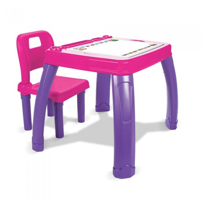 Pilsan Набор Стол+СтулНабор Стол+СтулДетский Набор Стол+Стул Pilsan - набор из стола со съемным поддоном и стула со спинкой для детей от 3 лет. Очень удобный набор, который будет служить вашему ребенку на протяжении нескольких лет. У малыша теперь будет собственное место для занятий творчеством, игр и обучения, яркое и удобное.   Предназначен для детей в возрасте от 3 лет Максимальная Нагрузка 35 кг Место для хранения книг и тетрадок Складной стул Обеспечивает ребенку удобную обстановку для занятий Эргономичный дизайн Легкая сборка Размеры стола: ширина - 56 см, длина - 68 см, высота - 51.5 см.  Компания Pilsan начала свою историю в 1942 году. Сегодня – это компания-гигант индустрии крупногабаритных детских игрушек, которая экспортирует свою продукцию в 57 стран мира. Компанией выпускается 146 наименований продукции – аккумуляторные и педальные автомобили, велосипеды, развивающие игрушки и аксессуары для детей. Вся продукция Pilsan сертифицирована и отвечает международным стандартам качества.<br>