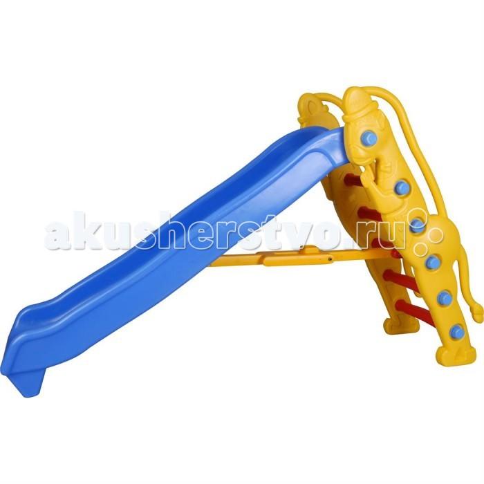 Горка Pilsan ОбезьянкаОбезьянкаPilsan Горка Обезьянка - простая конструкция горки из прочного пластика для детей от 1 до 5 лет. Быстро собирается и легка в установке. Благодаря компактным размерам может быть установлена в помещении.  Эргономичная форма горки с прямым спуском обладает приятными внешними данными. Спуск имеет объемные боковые бортики, предотвращающие вылет ребенка за пределы горки.   Крепкая и устойчивая конструкция выполнена из легкого и прочного пластика, поэтому безопасна, и пригодна для установки на любой поверхности.  Предназначена для детей от 1 года Гладкое, единое полотно горки Ступеньки с противоскользящими насечками Устойчивое основание Конструкция горки выполнена из легкого и прочного пластика Горка безопасна, и пригодна для установки на любой поверхности Разбирается и занимает мало места  Размеры: 84х109х185 см<br>