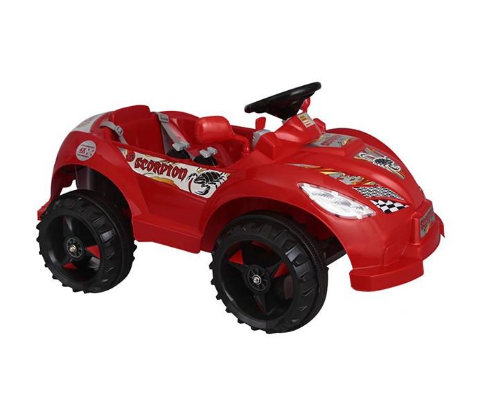 Электромобиль Pilsan Scorpion Remote ControlScorpion Remote ControlУправляя этим автомобилем, Ваш ребенок с самого раннего детства приобретет навыки уверенного вождения. Ведь это фактически настоящий автомобиль, только маленький и безопасный.   Музыкальный сигнал (6 звуков) Аккумулятор 12V 12 Ah Колеса с бесшумным покрытием Рычаг переключения Вперед/Назад Удобное сидение со спинкой и ремнем безопасности Двигатель 2X12V с задним расположением  Для детей от 3-6 лет  Пульт радиоуправления для родителей Умная система ключей (с подсветкой) Зеркала заднего вида Наличие плавкого предохранителя Педаль газа/тормоза Передние/задние фары  Открывающийся багажник Система амортизации Максимальная скорость 3.5-7 км/ч Максимальная грузоподъемность 25 кг  Цвета в ассортименте.   Размер машинки - 66х109х53 см.  Компания Pilsan начала свою историю в 1942 году. Сегодня – это компания-гигант индустрии крупногабаритных детских игрушек, которая экспортирует свою продукцию в 57 стран мира. Компанией выпускается 146 наименований продукции – аккумуляторные и педальные автомобили, велосипеды, развивающие игрушки и аксессуары для детей. Вся продукция Pilsan сертифицирована и отвечает международным стандартам качества.<br>