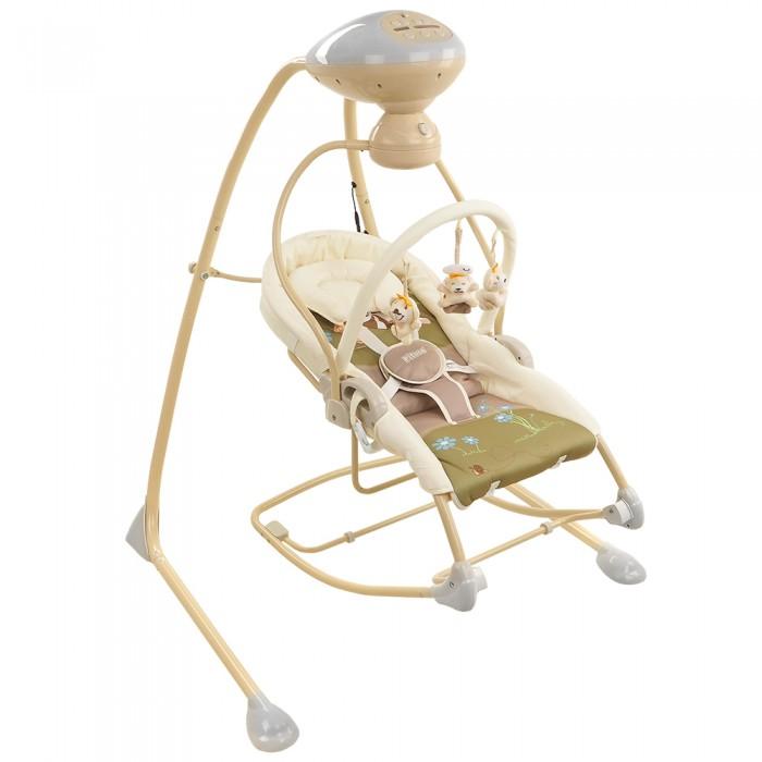 Электронные качели Pituso Villena 2 в 1Villena 2 в 1Электронные качели Pituso Villena 2 в 1 (качели шезлонг) обеспечивают плавное качание Вашего малыша и поможет быстро успокоить.  Особенности: Высокое качество и надежность Сиденье электрокачелей можно использовать как шезлонг и люльку Сиденье электрокачелей имеет функцию вибрации Съемный двойной подголовник-подушка Дуга со съемными игрушками 5-ти точечные ремни безопасности Поворотный механизм на 90 и 180 градусов Автоматическая регулировка скорости поворота Технология контроля веса малыша 5 уровней скорости качания 3 режима работы качелей (8, 15, и 30 минут) Музыкальный блок с 10-ю мелодиями (колыбельные, пенья птиц, звук воды) Съемный, моющийся чехол деликатная стирка) Работает от батареек или от адаптера Размер:76х106х105 см<br>