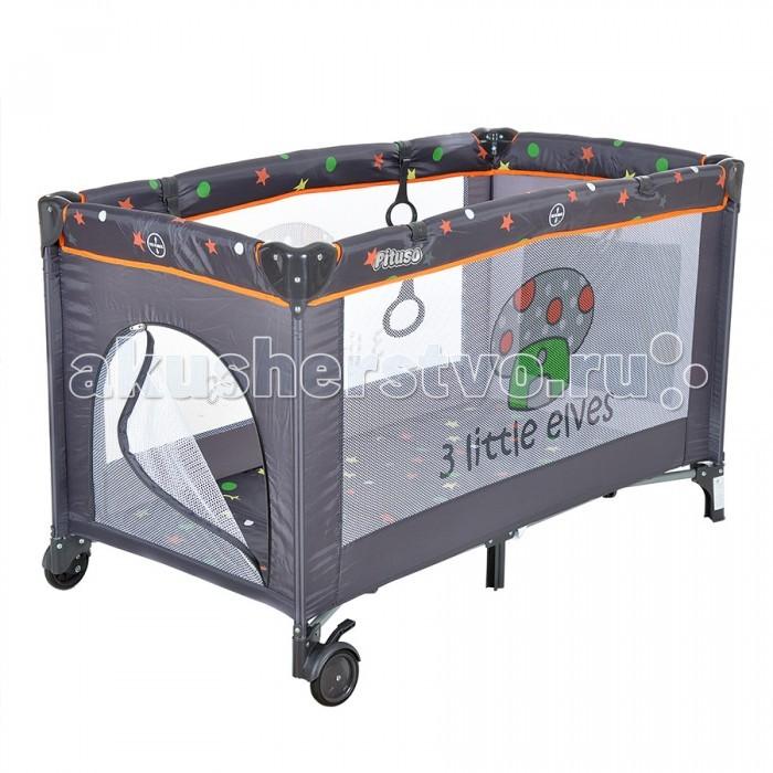 Манеж Pituso GranadaGranadaМанеж Pituso Granada позволит ребенку спать в нем с комфортом или играться в дневное время.   Этот манеж привлечет внимание малыша красочными рисунками. А родители всегда смогут быть спокойны, что их ребенок в безопасности, поскольку манеж Pituso оснащен защитной сеткой, устройством фиксирующим манеж и предупреждающим произвольное складывание.   Манеж Pituso позволит добавить ярких красок в комнату. К тому же его можно брать с собой на дачу или в гости. Благодаря мягкому материалу, которым обиты края и защитной сетке - малыш не сможет травмироваться и игры будут радостными и спокойными.   Особенности: Одноуровневый Защитная сетка на боковых стенках Боковой лаз на молнии 2 колеса с фиксаторами Карман на резинке для игрушек Компактен в сложенном положении Замок-фиксатор, который защищает от произвольного складывания Сумка для переноски Можно использовать как в помещении, так и на природе Размер: 125х65х76 см<br>