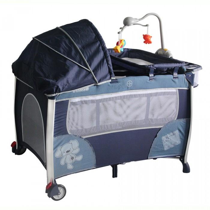 Манеж Pituso кровать Floraкровать FloraМанеж Pituso кровать Flora – идеальное место как для сна, так и для игр ребенка. Детские манежи-кровати используются дома, на даче и на природе. Основания и борта манежа обиты мягкой тканью, боковины сделаны из прочной защитной сетки, что обеспечивает отличную вентиляцию малышу во время игр и сна. Манеж-кровать незаменима, если Вы любите путешествовать с ребенком. Легко складывается, помещается в любой автомобиль, не занимает много места. С помощью сумки, которая входит в комплект, манеж удобно перевозить.  Имеется удобный съемный пеленальный столик, на котором вы сможете легко перепеленать малыша.  Переносной музыкальный мобиль с подсветкой и вибрацией, крепится к кроватке. Мобиль может успокоить ребенка в манеже и развлечь. Забавные цветные игрушки на мобиле способствуют развитию навыков общей моторики, сенсорного и звукового восприятия ребенка.  Подвеска на мобиле сделана из ярких материалов, которые безопасны для здоровья малыша и не вызовут аллергии. Встроенная подсветка на модуле служит ночником, что очень удобно ночью, чтобы проконтролировать малыша. 3 режима вибрации мобиля – полезная опция для того, чтобы успокоить ребенка.  Особенности: 2 уровня дна, можно увеличить глубину манежа Съемный пеленальный столик Съемная полка для аксессуаров, крепится сбоку на манеж  Мобиль с игрушками Электромузыкальный блок с функцией вибрации и подсветки 2 колеса с фиксаторами Защитная сетка на боковых стенках Боковой лаз на молнии - пригодится, если малыш решит самостоятельно залезть в манеж Карман на резинке для игрушек Замок-фиксатор, который защищает от произвольного складывания Съемный капюшон-капор Сумка для переноски, позволит без дополнительных затрат брать с собой манеж в любую поездку Тип батареек на мобиле: 3 х AA / LR6 1.5V (пальчиковые).  Габариты изделия: размеры в разложенном виде (ДхШ): 110х78х76 см размеры в сложенном виде (ШхДхВ): 28х28х77.5 см вес нетто/брутто: 12.76кг/13.36 кг.<br>
