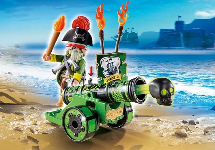 Конструкторы Playmobil Интерактивная пушка с капитаном пиратов