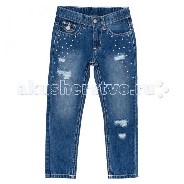 Брюки, джинсы и штанишки Playtoday Джинсы для девочки Васильковое лето 172105 skullies