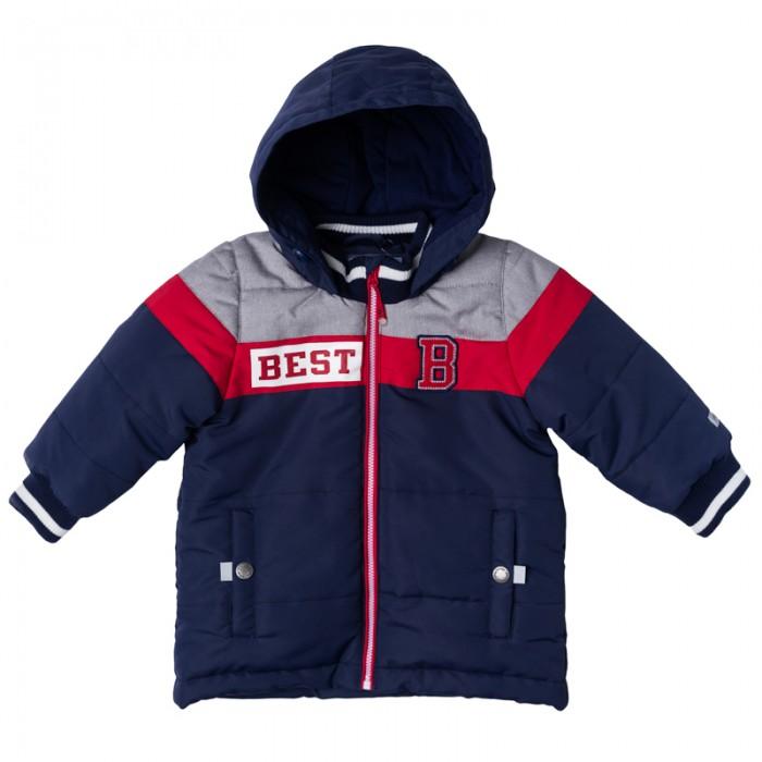 Playtoday Куртка для мальчика Веселый алфавит 177002Куртка для мальчика Веселый алфавит 177002Playtoday Куртка для мальчика. Практичная утепленная куртка с капюшоном со специальной водоотталкивающей пропиткой защитит Вашего ребенка в любую погоду! Мягкие трикотажные резинки на рукавах защитят Вашего ребенка - ветер не сможет проникнуть под куртку.   Специальный карман для фиксации застежки-молнии не позволит застежке травмировать нежную детскую кожу. Мягкая резинка на капюшоне не позволит ему упасть с головы вашего ребенка даже во время активных игр.  Особенности: Защита подбородка. Специальный карман для фиксации застежки-молнии. Наличие данного кармана не позволит застежке -молнии травмировать нежную кожу ребенка Капюшон на мягкой резинке Водооталкивающая пропитка.  Состав: Верх: 100% полиэстер, подкладка: 80% хлопок, 20% полиэстер, Утеплитель 100% полиэстер, 150 г/м2.<br>