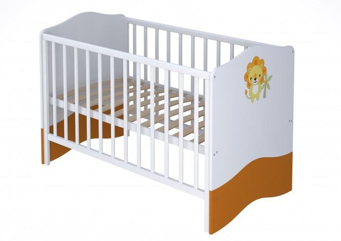 Кроватка-трансформер Polini Basic Джунгли 140х70 смBasic Джунгли 140х70 смКровать-трансформер Polini Basic Джунгли 140х70 см с ярким принтом на фасадах в виде львят создаст веселую атмосферу в комнате.  Сглаженные углы спинок кроватей и надежные импортные комплектующие исключают травмирование ребенка и способствуют созданию уникального дизайна комнаты.  В производстве используются ЛДСП Kronospan (Австрия) и массив березы.  Кровать обладает уникальным механизмом вынимания реек из боковин (пружинный механизм), который абсолютно безопасен для ребенка. Кровать «растет» вместе с ребенком, позволяя увеличить срок использования до 7 лет.  Преимущества: трансформируется в подростковую (от 0 до 7 лет), 2 положения ложа, накладки ПВХ, изготовлена по европейским стандартам. материал: массив березы, ЛДСП. проста в сборке. Для подросткового варианта можно приобрести боковые ограждения (не входят в комплект).  Габариты изделия (ВхШхГ): 94 х 143.2 х 76 см.<br>