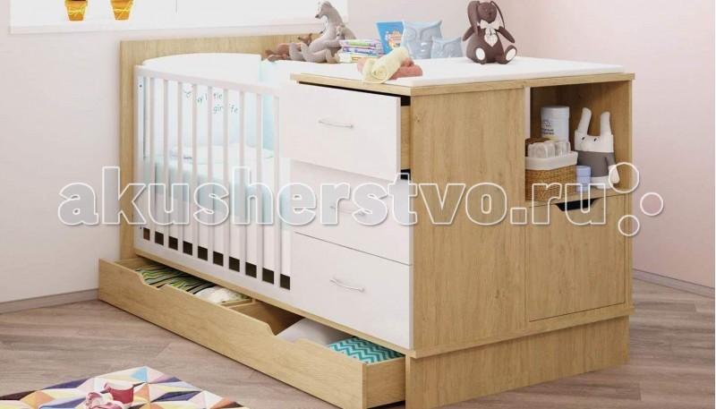 Кроватка-трансформер Polini ClassicClassicКроватка-трансформер Polini Classic - это высочайший уровень качества и безопасности продукции, исключительная функциональность и дизайн. Все предметы мебели изготовлены из ЛДСП премиальной серии Contempo и Mirror Gloss (Австрия), а также из массива березы использована кромка Rehau (Германия) и фурнитура высочайшего качества.   В кроватке для новорожденного 2 высоты ложа (основание для матраса 120х60см), в комплект входят защитные накладки для боковин и 2 глубоких нижних ящика для детских вещей.   Кроватка трансформируется в 5 отдельных предметов мебели для подростка  Предметы мебели в составе кровати-трансформера: кровать для подростка с ложем 180 х 90 см., 2 ящика в основании. Габаритные размеры (ШхГхВ),мм.: 1872 x 950 x 1005 комод с тремя ящиками с доводчиками для плавного закрытия. Габаритные размеры (ШхГхВ),мм.: 640 x 470 x 790 стеллаж для книг большой. Габаритные размеры (ШхГхВ),мм.: 742 x 317 x1200 стеллаж прикроватный малый с нишами. Габаритные размеры (ШхГхВ),мм.: 490 x 300 x 790 тумба прикроватная с ящиком с доводчиками для плавного закрытия Габаритные размеры (ШхГхВ),мм.: 467 x 350 x 40  Габаритные размеры : 187.2 x 96.5 x 100.5 см<br>