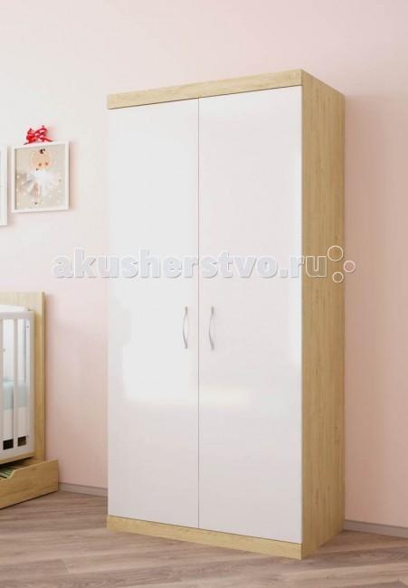 Шкаф Polini Classic двухсекционныйClassic двухсекционныйШкаф Polini Classic двухсекционный - это высочайший уровень качества и безопасности продукции, исключительная функциональность и дизайн. Все предметы мебели изготовлены из ЛДСП премиальной серии Contempo и Mirror Gloss (Австрия), а также из массива березы использована кромка Rehau (Германия) и фурнитура высочайшего качества.   Особенности: Вместительный шкаф с двумя отделениями имеет в комплекте 5 полок и штангу для одежды.  Двери снабжены системой плавного закрытия.  Надежные импортные комплектующие и эргономичная лицевая фурнитура исключают травмирование ребенка.  Габариты изделия: 89.8 x 51.6 x 190 см<br>