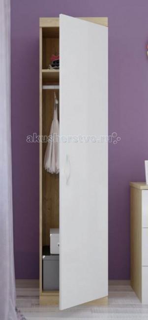Шкаф Polini Classic пеналClassic пеналШкаф Polini Classic пенал - это высочайший уровень качества и безопасности продукции, исключительная функциональность и дизайн. Все предметы мебели изготовлены из ЛДСП премиальной серии Contempo и Mirror Gloss (Австрия), а также из массива березы использована кромка Rehau (Германия) и фурнитура высочайшего качества.   Особенности: Удобный шкаф-пенал имеет в комплекте 4 полки и штангу для одежды.  Двери снабжены системой плавного закрытия.  Надежные импортные комплектующие и эргономичная лицевая фурнитура исключают травмирование ребенка.  Габариты изделия: 45 x 51.6 x 190 см<br>
