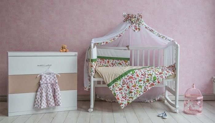 Комплект в кроватку Polini Кантри (7 предметов)Кантри (7 предметов)Комплект в кроватку Polini Кантри (7 предметов) создаст уют в детской кроватке и согреет в прохладные дни.   Борт защитит малыша от сквозняков, пыли и солнца. Чехлы бортика снимаются,что очень удобно при стирке.   Комплект изготовлен из натуральных, гипоаллергенных материалов-100% хлопок высочайшего качества.  В комплекте: штора балдахина: 00 см борт со съемными чехлами: 37х180 см подушка: 40х60 см наволочка: 40х60 см простыня на резинке на матрац: 120х60 см пододеяльник: 110х140 см одеяло: 110х140 см.<br>