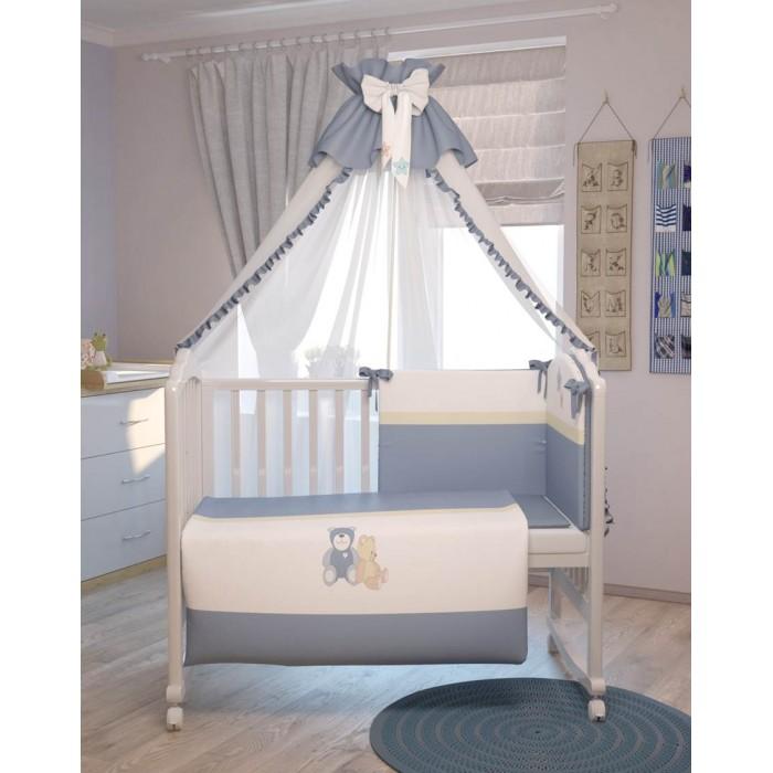 Комплекты в кроватку Polini Плюшевые мишки (7 предметов) комплекты в кроватку fairy жирафик 120х60 7 предметов