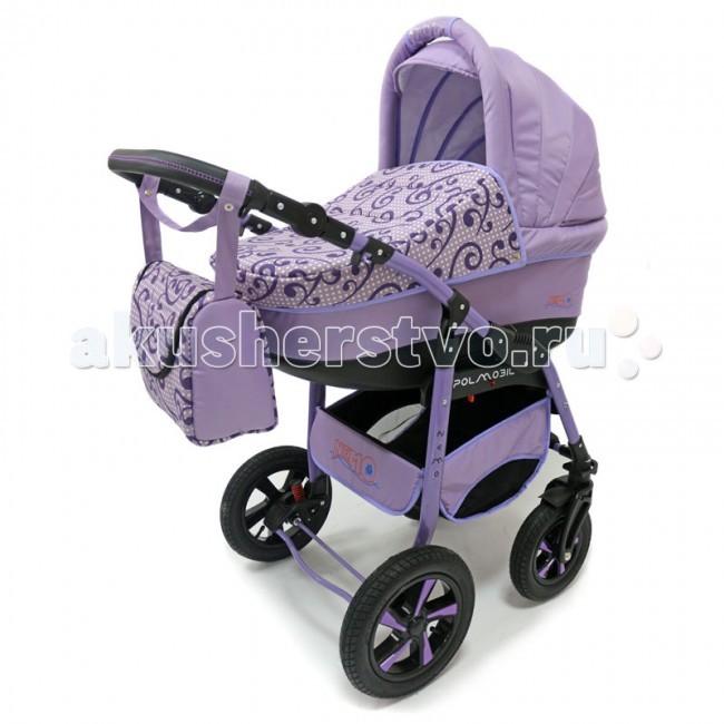 Коляска Polmobil Nemo Lux 2 в 1Nemo Lux 2 в 1Коляска Polmobil Nemo Lux 2 в 1 предназначена для детей с рождения и до 3-х лет.   В комплект коляски входит спальная люлька для новорожденного и прогулочный блок для подросшего малыша, которые можно устанавливать по ходу движения или против хода движения. Люлька коляски комфортная и удобная, сделана внутри из 100 % хлопка. Дно люльки – жесткое, это очень важно для правильного формирования позвоночника новорожденного малыша.  Прогулочное сидение легко устанавливается на раму, имеет пятиточечные ремни безопасности, съемный бампер, регулируемое положение спинки. Для удобства родителей предусмотрены регулировка высоты ручки, корзина для покупок и сумка для мамы.   Колеса надувные, камерные, с современной системой амортизации. Передние поворотные колеса с фиксатором делают эту модель коляски маневренной и легкоуправляемой. Задние колеса, обеспечивают хорошую проходимость и позволяют преодолевать любые препятствия по бездорожью на прогуле. Ширина колесной базы позволяет с легкостью входить в стандартные лифты и двери, что не вызовет трудностей с транспортировкой коляски.   Яркая расцветка коляски – порадует родителей и малыша.   Рама коляски цветная – это выглядит эффектно!   Люлька:  Жесткое дно; Регулируемый по высоте подголовник Ручка-переноска на капюшоне Дополнительная защита от ветра Регулируемый капюшон с окошком для проветривания Увеличенный солнцезащитный козырек Утепленные съемные борта из 100% хлопка  Прогулочный блок:   Регулировка высоты спинки в четырех положениях, предусмотрено положение для сна  Увеличенный капюшон с  сетчатым окошком  Съемная задняя стенка капюшона на молнии Съемная ручка-бампер Подножка регулируется по высоте Дополнительная пластиковая подножка  Рама, колеса: Материал рамы: металл Ручка регулируется по высоте Пружинная амортизация 2-х колес с регулировкой жесткости<br>