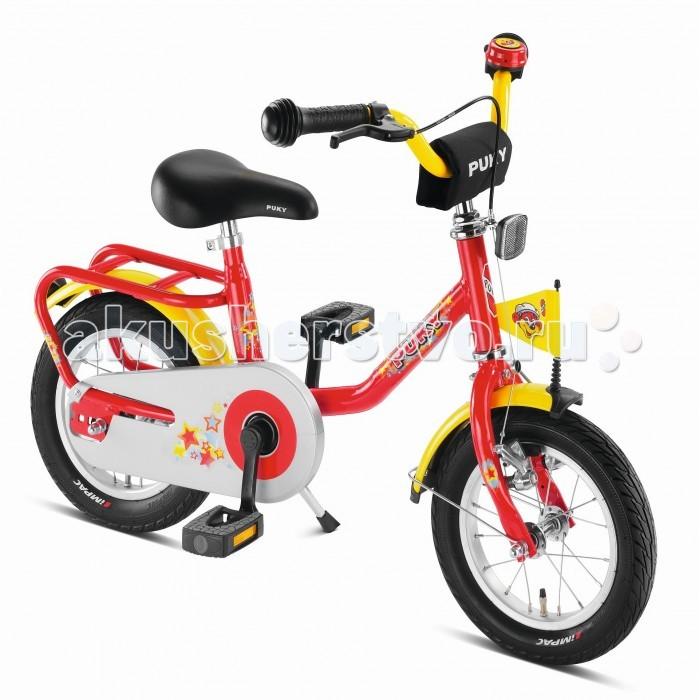 Велосипед двухколесный Puky Z2Z2Puky Z2 - отличный первый велосипед для Вашего ребенка в возрасте от 3 лет. Велосипед выглядит серьезно и представительно, его эргономика очень хорошо продумана, а качество материалов и сборки очень высокое. Такой велосипед послужит не один сезон, а после перейдет в наследство младшему ребенку от старшего.  Рама велосипеда выполнена из стали и окрашена с помощью порошковой технологии, что гарантирует повышенную износоустойчивость. Такому покрытию не страшны яркий солнечный свет и падения на асфальт. Сварные швы на раме аккуратные и надежные, что обеспечивает устойчивость к нагрузкам во время катания.  Колеса велосипеда диаметром 12 дюймов с чрезвычайно мягким и легким ходом.  Характеристики: материал - сталь рекомендуется детям от 3 до 5 лет на рост от 95 см, длину ноги от 40 см немецкое качество накачиваемые колеса 12 (2 приставных колеса-приобретаются отдельно) рулевое управление и педали на шарикоподшипниках звонок регулируемый ручной тормоз регулировка положения седла 45-54 см подставка для парковки флажок безопасности, багажник Barpad (противоударная подушечка) на руле защита цепи крылья, защищенные по краям пластиком светоотражатели передние и задние высота рамы 26 см нижняя позиция седла 50 см максимальная нагрузка 50 кг  В комплекте: велосипед звонок флажок  Размер 91 х 45 см Вес 8.6 кг<br>