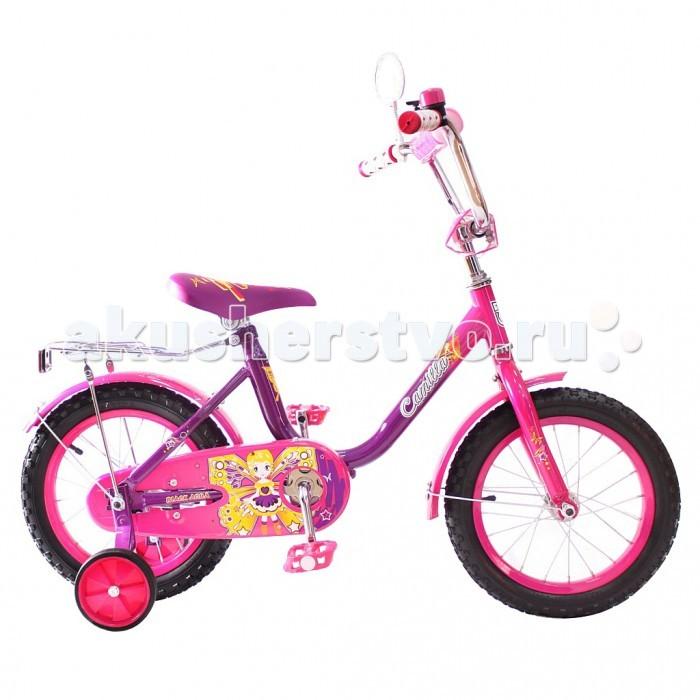 Велосипед двухколесный R-Toys BA Camilla 14BA Camilla 14Двухколесный велосипед BA Camilla 14 с боковыми колесами на усиленных кронштейнах. Ребенку проще привыкнуть к габаритам двухколесной модели, если она имеет дополнительные колесики для устойчивости. Когда рулевое управление будет доведено до совершенства, можно переходить к тренировкам поддержания равновесия на велосипеде без боковых колес.  Особенности велосипеда: прочная стальная рама стойкое антикоррозийное покрытие рамы удлиненные стальные крылья обод стальной руль ВМХ, по центру - мягкая накладка съемные боковые колеса с жесткой прорезиненной поверхностью усиленный кронштейн боковых колес надувные 14-дюймовые колеса на подшипниках количество скоростей - 1 защитный кожух на велоцепи тормоз задний ножной багажник-хром зеркало заднего вида на гибкой ножке звонок на руле<br>