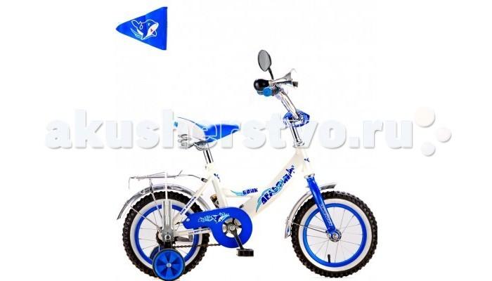 Велосипед двухколесный R-Toys BA Дельфин 12BA Дельфин 12Двухколесный велосипед BA Дельфин 12 с боковыми колесами на усиленных кронштейнах. Ребенку проще привыкнуть к габаритам двухколесной модели, если она имеет дополнительные колесики для устойчивости. Когда рулевое управление будет доведено до совершенства, можно переходить к тренировкам поддержания равновесия на велосипеде без боковых колес.  Особенности велосипеда: прочная стальная рама стойкое антикоррозийное покрытие рамы удлиненные стальные крылья обод стальной руль ВМХ, по центру - мягкая накладка съемные боковые колеса с жесткой прорезиненной поверхностью усиленный кронштейн боковых колес надувные 12-дюймовые колеса на подшипниках количество скоростей - 1 защитный кожух на велоцепи тормоз задний ножной багажник-хром зеркало заднего вида на гибкой ножке гудок на руле, флажок<br>