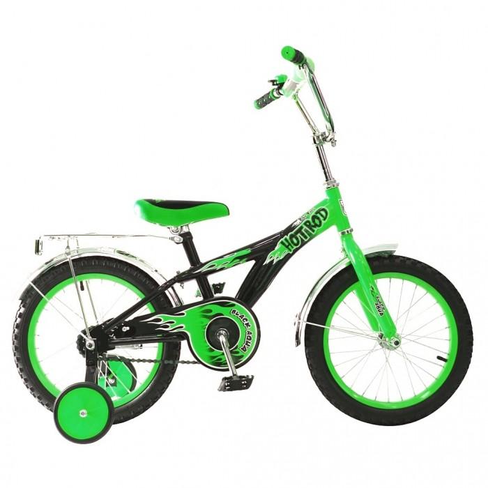 Велосипед двухколесный R-Toys BA Hot-Rod 16BA Hot-Rod 16Двухколесный велосипед BA Hot-Rod 16 с боковыми колесами на усиленных кронштейнах. Ребенку проще привыкнуть к габаритам двухколесной модели, если она имеет дополнительные колесики для устойчивости. Когда рулевое управление будет доведено до совершенства, можно переходить к тренировкам поддержания равновесия на велосипеде без боковых колес.  Особенности велосипеда: прочная стальная рама стойкое антикоррозийное покрытие рамы удлиненные стальные крылья обод стальной руль ВМХ, по центру - мягкая накладка съемные боковые колеса с жесткой прорезиненной поверхностью усиленный кронштейн боковых колес надувные 16-дюймовые колеса на подшипниках количество скоростей - 1 защитный кожух на велоцепи тормоз задний ножной багажник-хром зеркало заднего вида на гибкой ножке звонок на руле<br>