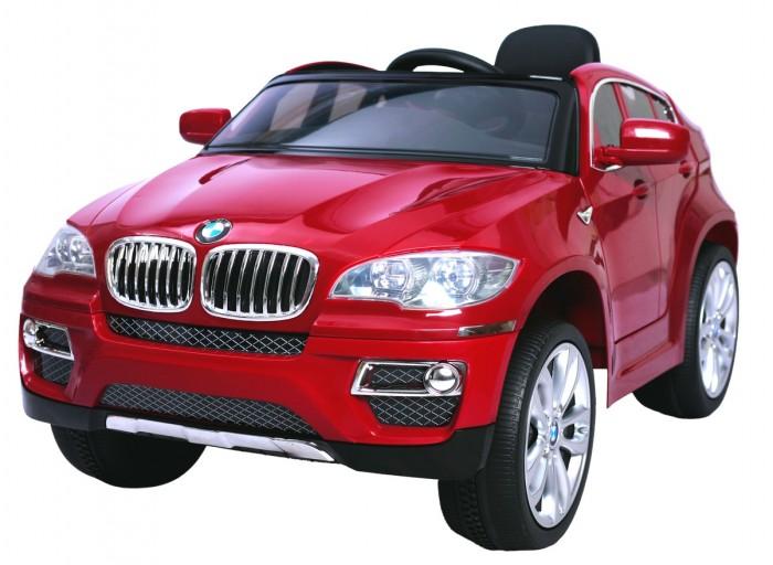 Электромобиль R-Toys BMW X6BMW X6R-Toys BMW X6 с пультом радиоуправления 12 V, покрытие-мерцающий металик. Это точная копия оригинальной модели X6: обе боковые двери открываются, руль со значком BMW, ветровое оргстекло, боковые зеркала, хромированные диски, хромированные значки BMW, неоновая голубая подсветка, реалистичная приборная панель в салоне с подсвечивающимися голубым неоновым светом приборами - все повторяет настоящий автомобиль.   Особенности: Мягкие и бесшумные колеса выполнены по новейшей технологии - из пластмассы с добавлением латекса. Это самые мягкие колеса в коллекции электромобилей. Заводится электромобиль путем нажатия кнопки на панеле. При этом издается звук, как если Вы заводите настоящий авто - рев автомобиля.  Приводится в движение нажатием ногой на педаль - все как в настоящем авто. Едет вперед-назад, 2 скорости, 4WD.  Вы можете управлять электромобилем дистанционно с помощью пульта радиоуправления: вперед-назад, вправо-влево. Максимальная скорость - 3-5 км\ч.  Очень красивое покрытие корпуса: мерцающая металлическая покраска. Очень красивая голубая неоновая подсветка приборов на панеле в салоне авто.  Фары и полоски под фарами-Фары: передней фиксированной (луч), светодиодная подсветка, меняющаяся под музыку. Есть вход для мобильного телефона, МРЗ. Возможно регулировать громкость.  2 двигателя, 2 аккумулятора. В комплекте - зарядное устройство и аккумулятор. Максимальная нагрузка 30 кг.  Вождение электромобиля обостряет ум ребенка, заставляет анализировать действия, которые требуют внимания,ответственности,собранности и серьезности. Помогают обучиться управлению транспортным средством, правилам дорожного движения. Потому что в современном мире рано или поздно все дети повзрослев, сядут за руль настоящего автомобиля. Они никогда не забудут свой первый автомобиль. Только не забудьте пристегнуть ремни безопасности.<br>