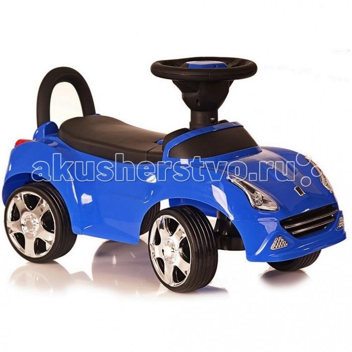 Каталка R-Toys Ferrari свет/звукFerrari свет/звукКаталка R-Toys Ferrari свет/звук  Любой малыш будет в восторге от подарка в виде яркой гоночной машинки, водителем которой он легко станет. Кроха быстро освоит катание на новом виде транспорта, ведь для этого ему достаточно лишь удержать равновесие и контролировать свои движения.  Особенности: Стильный дизайн этой каталки непременно привлечёт внимание детей, ведь она очень похожа на настоящий автомобиль марки Ferrari. Корпус изделия, светящиеся во время езды фары и радиаторная решетка добавляют транспортному средству дополнительную реалистичность. Малыш самостоятельно будет приводить каталку в движение, крутя руль и отталкиваясь ножками. Ребенок сможет облокотиться на высокую спинку изделия, чтобы позвоночник не уставал во время езды. А поднимать настроение крохе во время поездки будет музыкальное сопровождение, предусмотренное в данной модели, которое активируется нажатием кнопки на руле. Выполненные из прорезиненного пластика широкие колеса дополнены глубокими рельефными протекторами, обеспечивающими повышенную проходимость. Оптимальный (неполный) угол поворота колес сделает езду одновременно безопасной и манёвренной. Форма сиденья с бортиком в задней части выполнена с учетом анатомии детей, а рельефные узоры на нем помогут крохе не соскальзывать. Устойчивая конструкция каталки не позволит ей перевернуться во время катания, а выступающие наружу широкие края защитят ездока от брызг. Рама изделия выполнена из пластика повышенной прочности, которому не страшны удары, и он не деформируется при столкновении с препятствием. Каталка станет любимым средством передвижения ребёнка на прогулке, а также поможет ему научиться управлять своим телом и поддерживать равновесие.  Размер 67х27 от пола до руля 30 см до сиденья 22 см Максимальная весовая нагрузка: 20 кг<br>