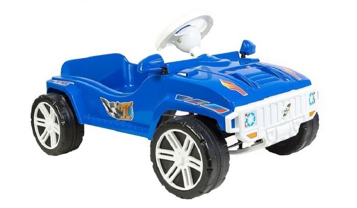 R-Toys Машина педальная Race Maxi Formula 1Машина педальная Race Maxi Formula 1R-Toys Машина педальная Race Maxi Formula 1 из нашего детства. Механизм педалей такой, как в детстве был у советских машинок.   Особенности: Автомобиль не имеет дна, но оснащен удобным сиденьем и двумя надежными педалями, которые запускают в движение колеса. Достаточно по очереди нажимать на педали и машина будет ехать вперед.  Поворачивая руль, автомобиль можно направлять направо или налево. Ребенок оценит этот простой, но очень необычный и надежный механизм управления.  В отличии от аккумуляторных машин на пульте управления Ваш ребенок будет успешно развиваться физически, укреплять мышцы ног, спины, живота. Такой способ управления автомобилем не просто заинтересует Вашего малыша, но и приведет его в полнейший восторг.  Это первый автомобиль так похожий на реальный, потому что малыш сидит внутри и управляет им как водитель. Он может даже сигналить, потому что на руле- клаксон.  Эта необычная альтернатива детскому велосипеду.  Корпус- упрочненный высококачественный пластик, не подвержен деформации и перепаду температур.  Машина выполнена в стиле Hummer ( передний бампер и капот) , но дизайн и аэродинамические формы спортивного автомобиля Formula 1.  Выполнена по самым современным технологиям и соответствует всем высочайшим стандартам качества и безопасности.  Автомобиль очень устойчивый — никогда не перевернется.  Идеально подойдет для малышей от 2 лет.  На руле есть клаксон.  Эргономичное сиденье с высокой спинкой. Очень устойчивые, широкие и проходимые колеса легко справятся с любым покрытием дорог.  У автомобиля имеются боковые зеркала заднего вида.  Эту педальную машину можно использовать и дома, и на улице.  Аэродинамичный и обтекаемый дизайн покорит с первого взгляда и Ваш малыш не захочет расставаться с Race Maxi Formula 1. Высота машины: 31 см.  Максимальная нагрузка 30 кг.  Продается в полной сборке. Нужно только прикрепить руль.<br>